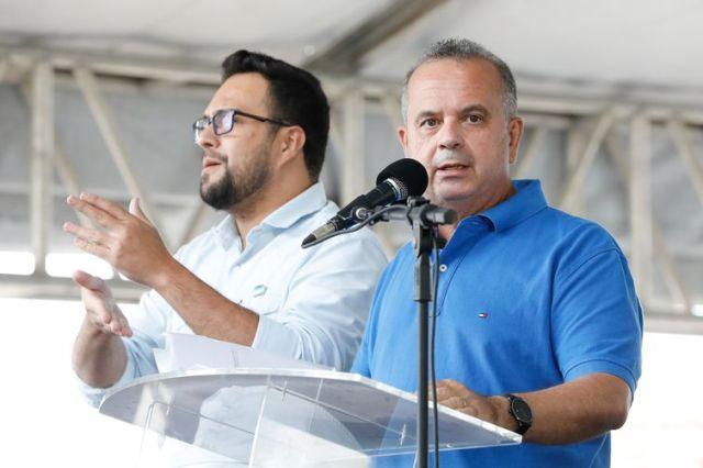 O ministro do Desenvolvimento Regional, Rogério Marinho,Durante a cerimônia de entrega das chaves das casas populares em Maceió