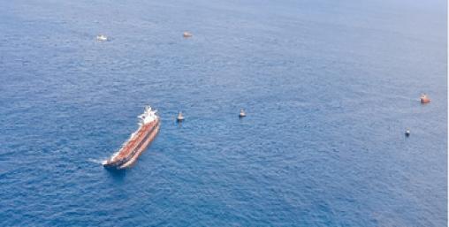O Stellar Banner, encalhado a 100 quilômetros da costa do Maranhão com cerca de 275 mil toneladas de minério de ferro e 3,8 mil toneladas de óleo