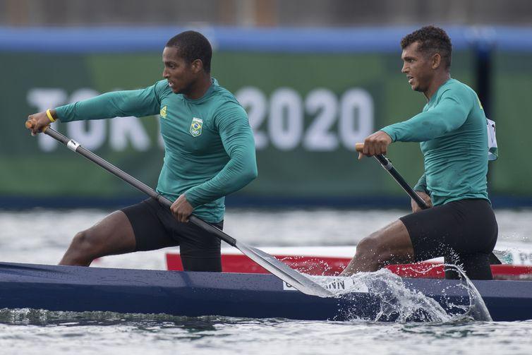 Isaquias Queiroz e Jacky Goldman - canoagem velocidade - C2 1000m - Tóquio 2020 - Olimpíada