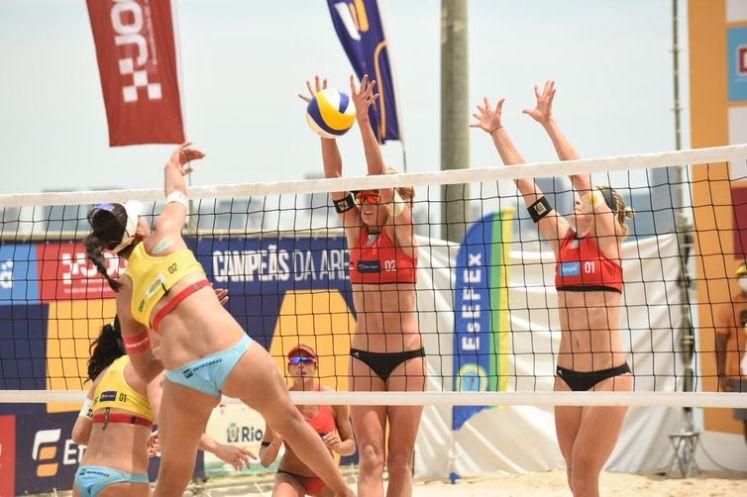 Campeãs da Areia teve a participação das duplas brasileiras Ágatha/Duda e Ana Patricia/Rebecca.