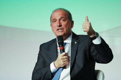 O ministro da Casa Civil, Onyx Lorenzoni, fala no 91º Encontro Nacional da Indústria da Construção (Enic), na Barra da Tijuca, zona oeste do Rio de Janeiro.