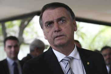 O presidente eleito Jair Bolsonaro durante visita ao Superior Tribunal de Justiça (STJ).