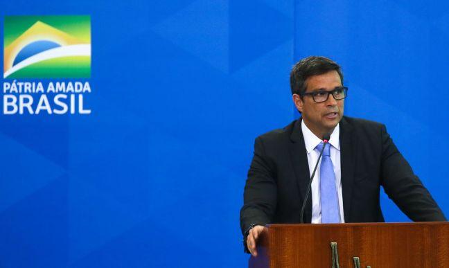 O presidente do Banco Central, Roberto Campos Neto, participa do lançamento da nova linha de crédito imobiliário com taxa fixa daCaixa Econômica Federal