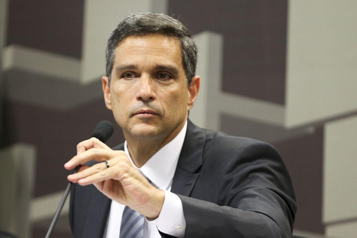 O economista Roberto de Oliveira Campos Neto, indicado pela Presidência da República para o cargo de presidente do Banco Central, durante sabatina na Comissão de Assuntos Econômicos (CAE) do Senado.