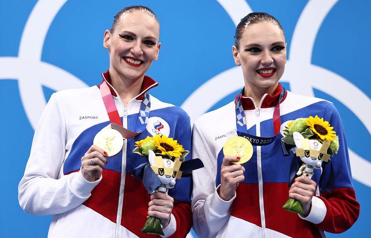 Artistic Swimming - Women's Duet - Medal Ceremony
