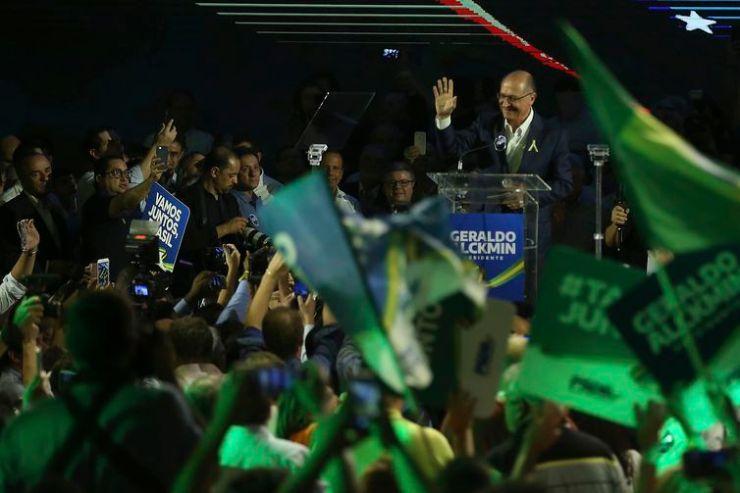 Convenção Nacional do PSDB, em Brasília, lança Geraldo Alckmin como seu candidato à Presidência da República.
