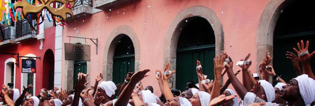 Carnaval 2015:  Saída do Olodum, no Pelourinho.