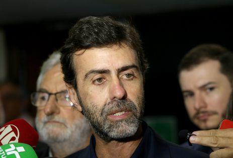 Deputado Marcelo Freixo fala à imprensa sobre eleição para presidente da Câmara dos Deputados.