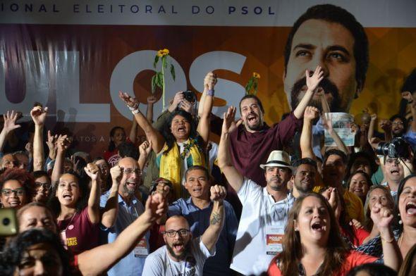 O PSOL confirmou a candidatura de Guilherme Boulos à Presidência da República, na convenção nacional que reuniu filiados do partido