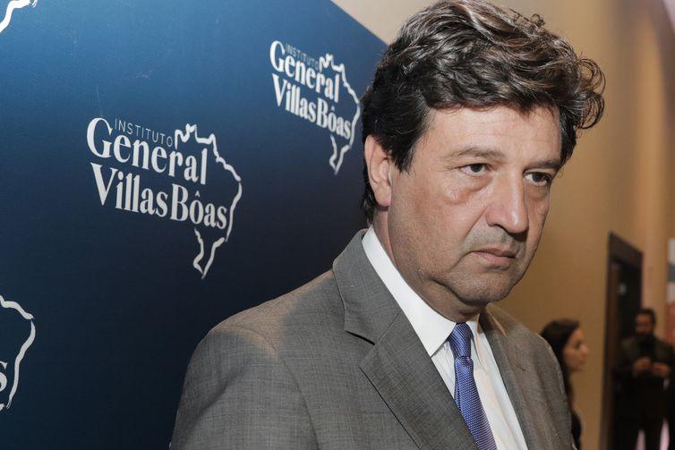 O ministro da saùde, Luiz Henrique Mandetta, participa do lançamento do Instituto General Villas Bôas (IGVB),