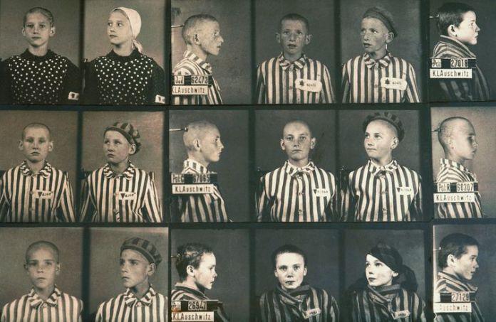 As crianças de Auschwitz também eram catalogadas e separadas de acordo com a origem.
