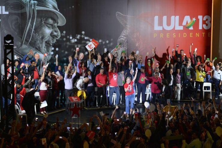 Convenção Nacional do PT para lançamento da candidatura de Lula para presidente, na Casa de Portugal.