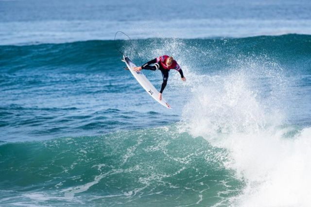 HOSSEGOR, FRANCE - OCTOBER 3: Kolohe Andino of the United States will surf in Round 2 of the 2019 Quiksilver Pro France after placing third in Heat 3 of Round 1 at Le Culs Nus on October 3, 2019 in Hossegor, France. (Photo by Damien Poullenot/WSL via Get