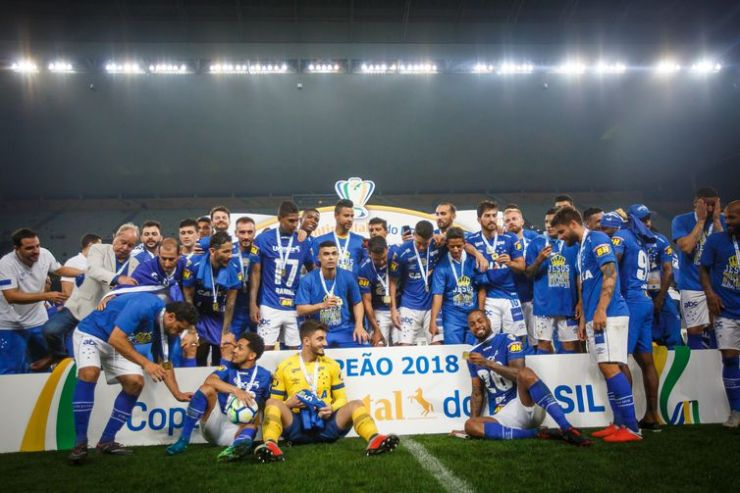 Cruzeiro comemorou o hexa da Copa do Brasil em 2018.