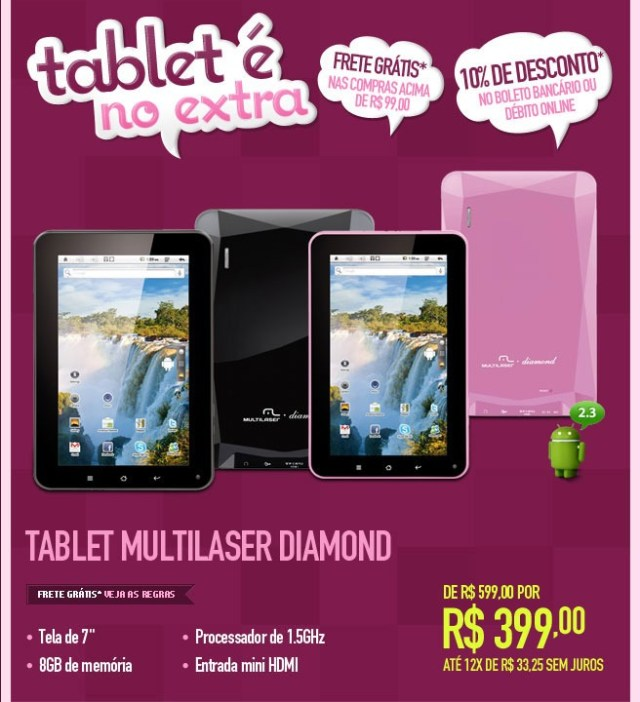 Tablet Multilaser Diamond