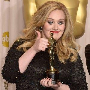 Será que a Adele curtiu ganhar o Oscar?