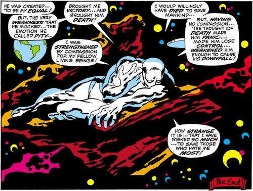 Na fase de John Buscema, o personagem mergulhava em monólogos tristes.