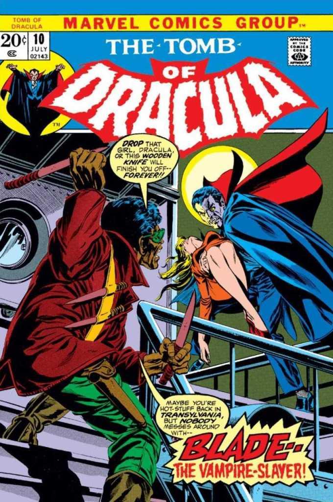 Blade estreando em The Tomb Of Dracula #10!