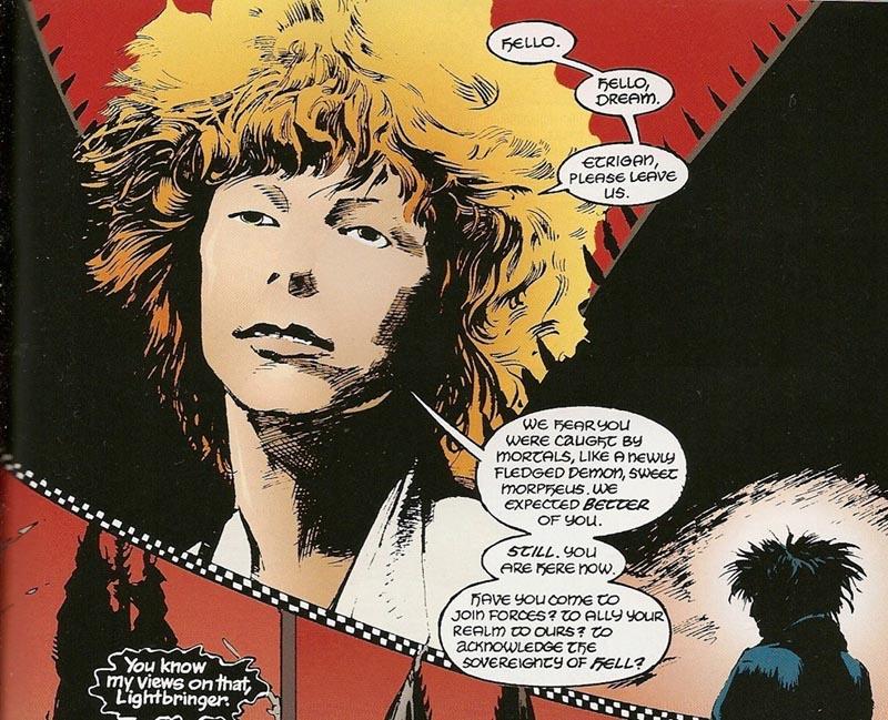 David Bowie homenageado em Sandman, incorporando Lúcifer!