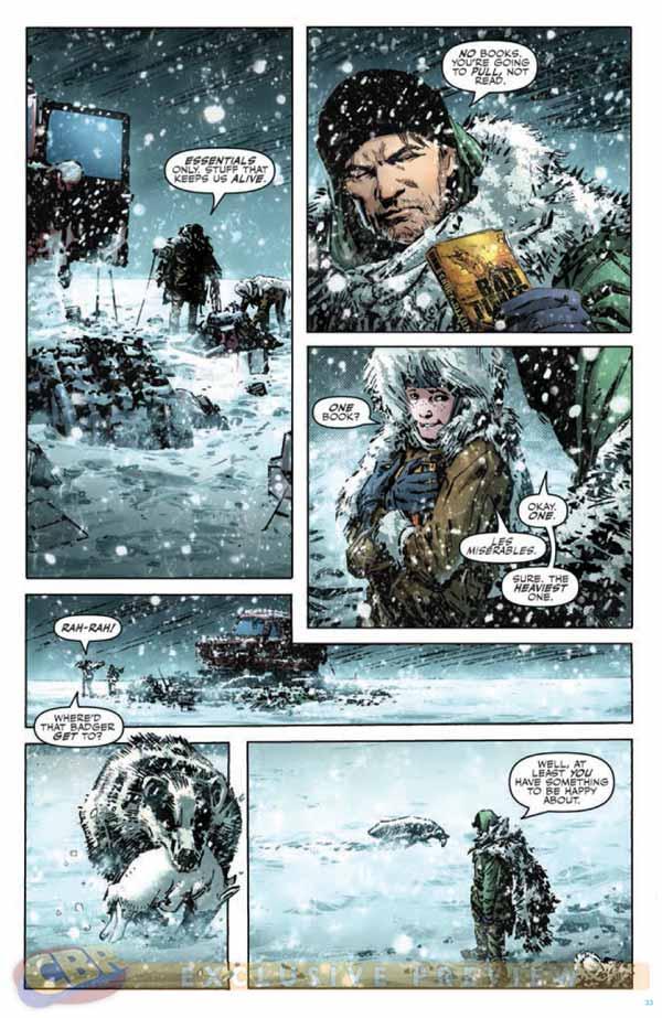 Arte de Butch Guice em Winterworld #1!