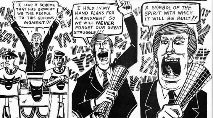 Donald Trump - The Wall - Peter Kuper
