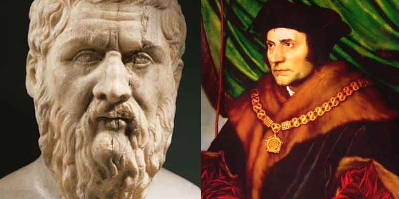 Platão (428 a.C. - 348 a.C.) e Thomas More (1478 - 1535) - Figuras importantes na formação da ficção - científica