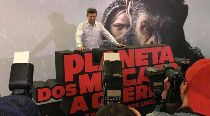 Andy Serkis no Brasil e sua coletiva de imprensa.