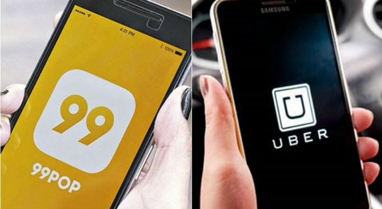 The 99 app will not have the same access as Uber in Olinda.  In Recife, it partners with Expresso da Folia at the RioMar and Plaza shopping malls