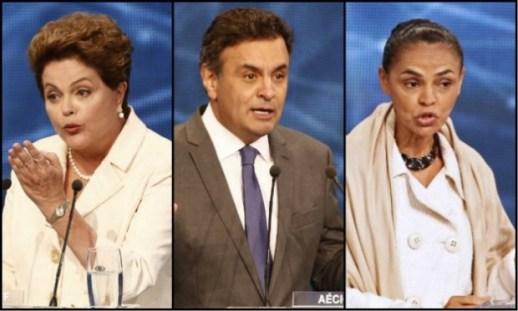 Dilma aparece com 36% das intenções de voto no primeiro turno ante 28% de Marina e 15% de Aécio Neves (PSDB) / Foto: AFP