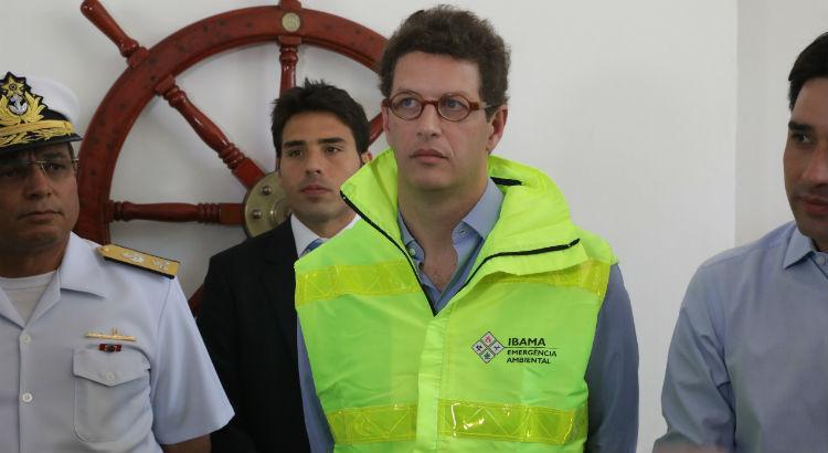 Ricardo Salles 2 - Ricardo Salles e o secretário José Bertotti trocam farpas durante reunião sobre vazamento de óleo no Nordeste