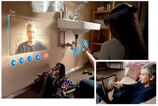 O HoloLens parece ser a grande inovação da empresa nesta década. (DIvulgação).