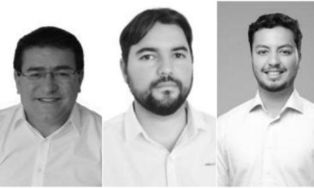 Luciano Duque (PT), Otoni Cantarelli (PCdoB) e Victor Oliveira (PR) serão entrevistados na TV Jornal / Foto: divulgação/TRE