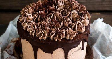 Bolo de chocolate com creme de chocolate alma mais plana ...