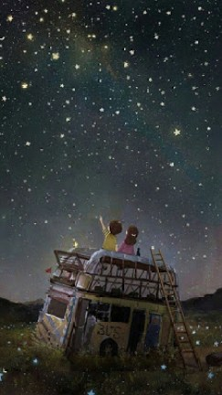 Criança vendo estrelas