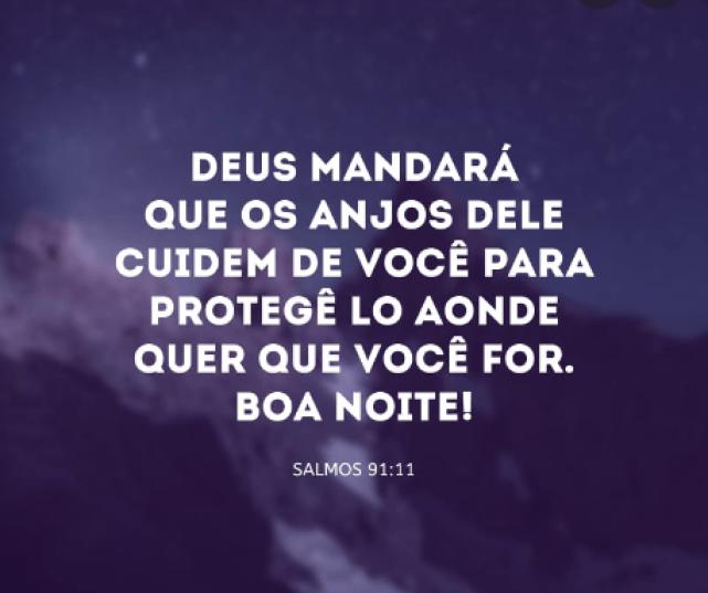 Imagens Bonitas de Boa Noite com Salmos para Ter Paz e compartilhar