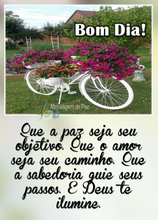 Bom Dia com a Paz de Deus para seu Dia