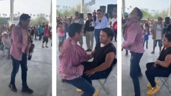 Candidato hace campaña con 'striptease' en San Luis Potosí