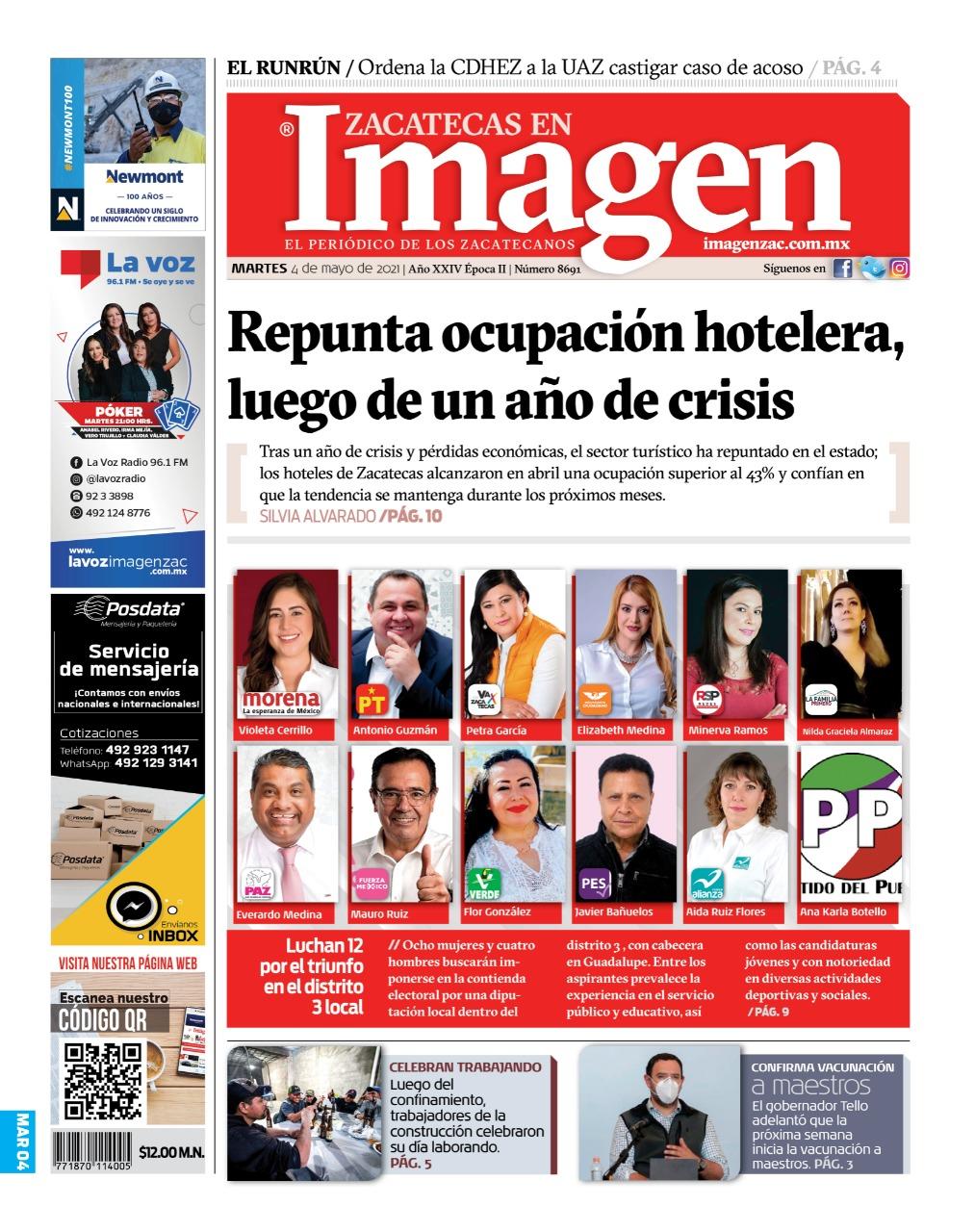Imagen Zacatecas edición del 04 de mayo del 2021