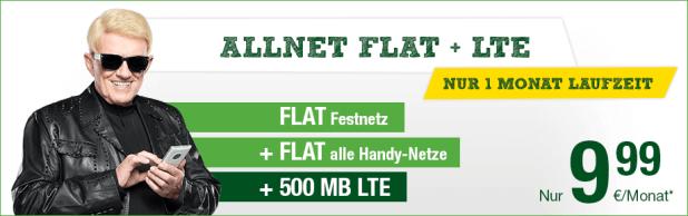 Allnet-Flat mit 500 MB LTE - nur 9,99€ mtl.