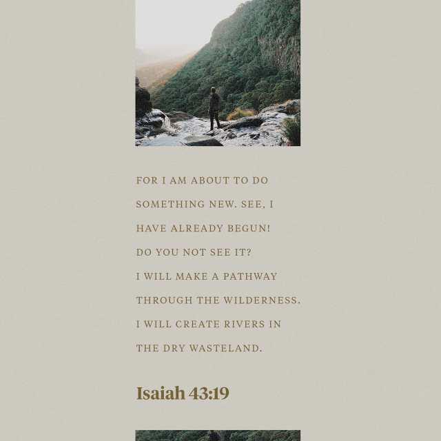 Isaiah 43:19 NLT