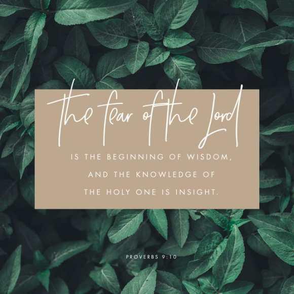 Proverbs 9:10 ESV