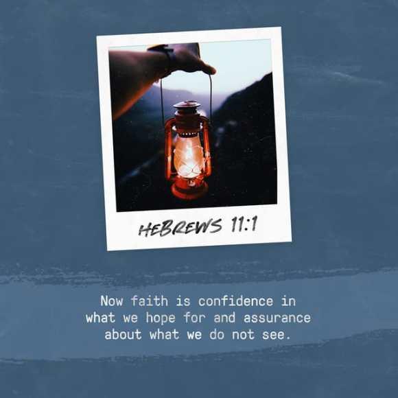 Hebrews 11:1 NIV