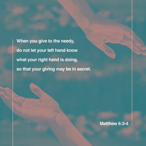 Matthew 6:3 ESV