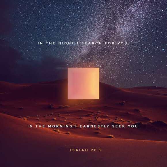 Isaiah 26:9 NIV