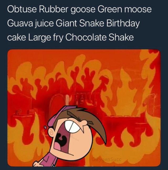 Obtuse Rubber Goose Guava Juice