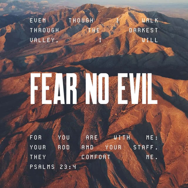 Psalms 23:4 - https://www.bibl...