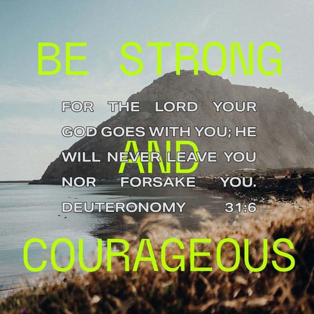 Deuteronomy 31:6 - https://www.bibl...