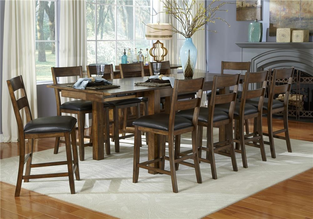Aamerica Mariposa 5 Piece Counter Height Dining Room Wayside Furniture Pub Table And Stool Sets