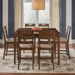 Aamerica Blue Mountain Contemporary 7 Piece Counter Height Table And Stool Set Novello Home Furnishings Pub Table And Stool Sets