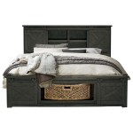 Aamerica Sun Valley California King Bed With Rotating Storage Conlin S Furniture Panel Beds